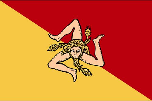 Sicilijos vėliava. Nuotr. Pinterest.