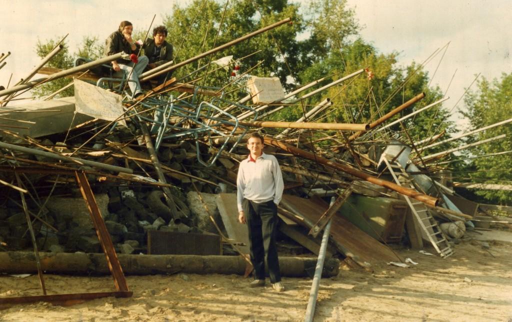 A.Vitale 1991 m. prie barikadų Maskvos pučo metu. Asmeninio archyvo nuotr.