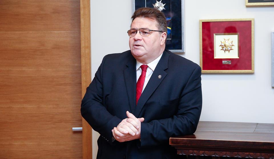 Linas Linkevičius. Ministerijos facebook nuotr.