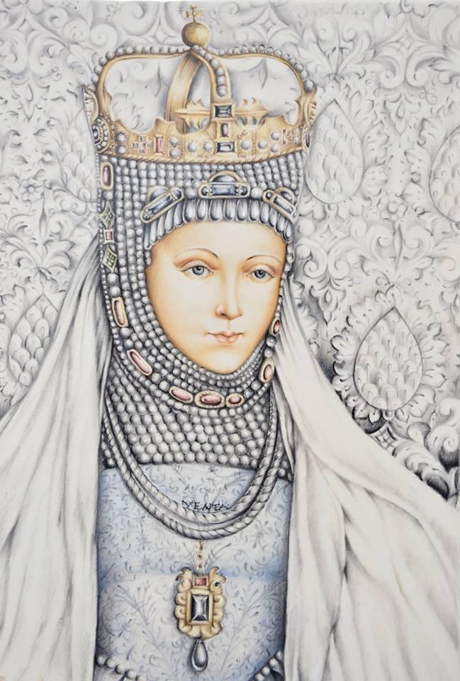 """V. Jankauskaitės-Mengana """"Barbora Radvilaitė"""" portretas eksponuojamas Valdovų rūmuose. Asmeninio archyvo nuotr."""
