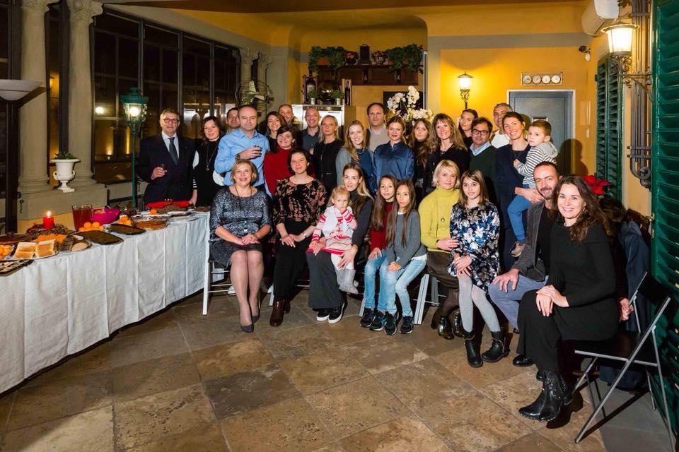 Toskanos lietuvių bendruomenė surengė savo pirmąją Kūčių vakarienę. Bendruomenės nuotr.