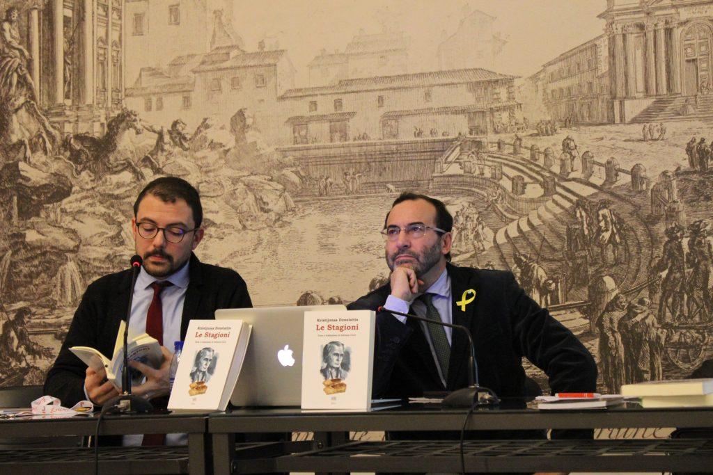 Pietro Umberto Dini, Adriano Cerri (kairėje). G. Zubrickytės nuotr.