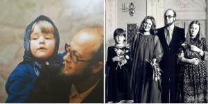 Ūla Ūlijona Žebriūnaitė su šeima. Asmeninio archyvo nuotr.