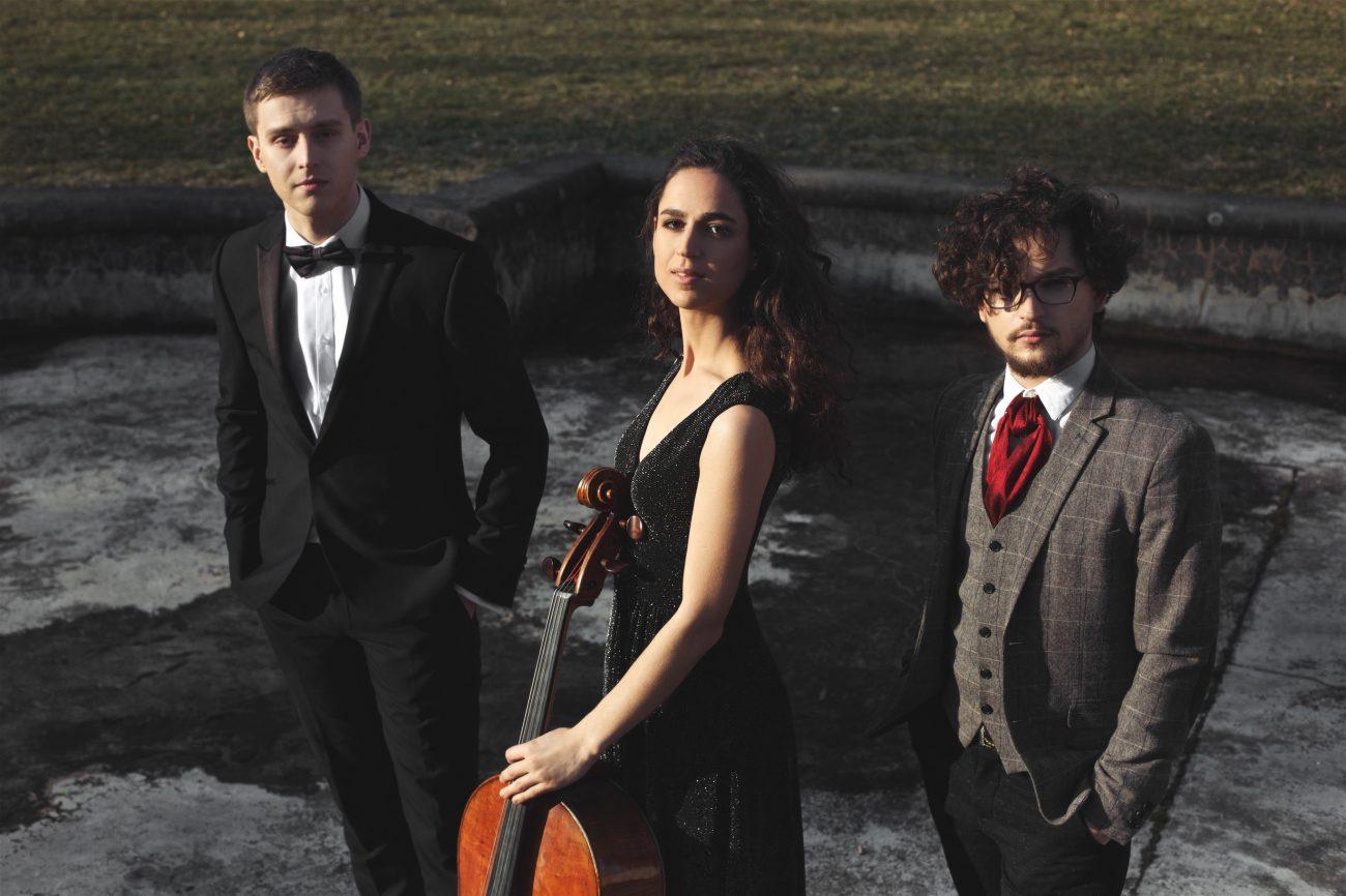 """Tarptautinis muzikos festivalis """"Le strade d'Europa. Lietuva – Italija. Nuotraukoje Žilvinas Brazauskas, Natania Hoffman, Robertas Lozinskis. Organizatorių nuotr."""